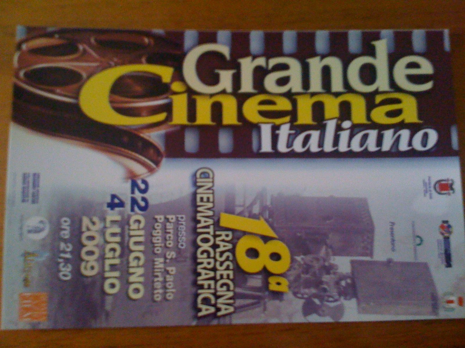 Grabde Cinema Italiano di POggio Mirteto 18° edizione - la locandina