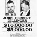 il vero manifesto per il ricercato John Dillinger