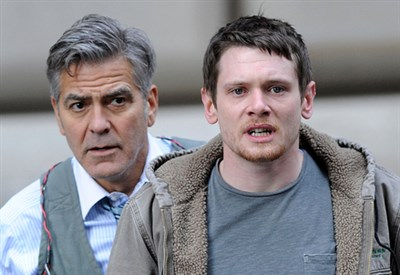 George Clooney (Lee Gates) & Jack O'Connell (Kyle Budweell)