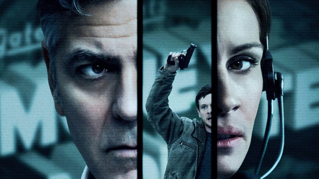 George Clooney (Lee Gates) • Julia Roberts (Patty Fenn) • Jack O'Connell (Kyle Budweell)