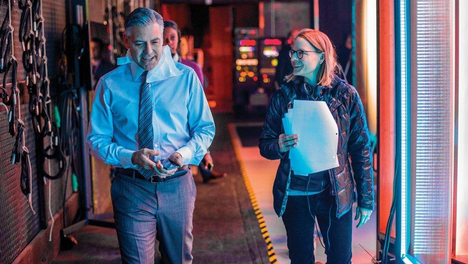 George Clooney e Jodie Foster durante una pausa del set